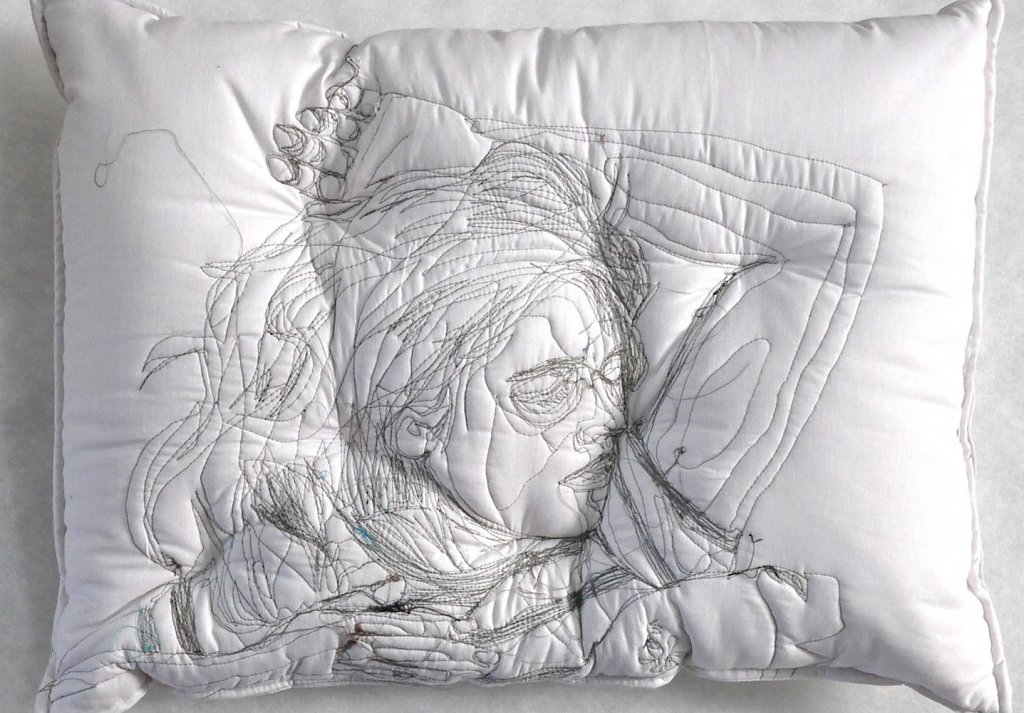 © Maryam Ashkanian 'Sleep Series 2016, sewing on blanket